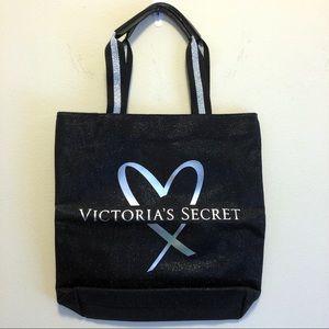 Victoria's Secret Black Glitter Tote